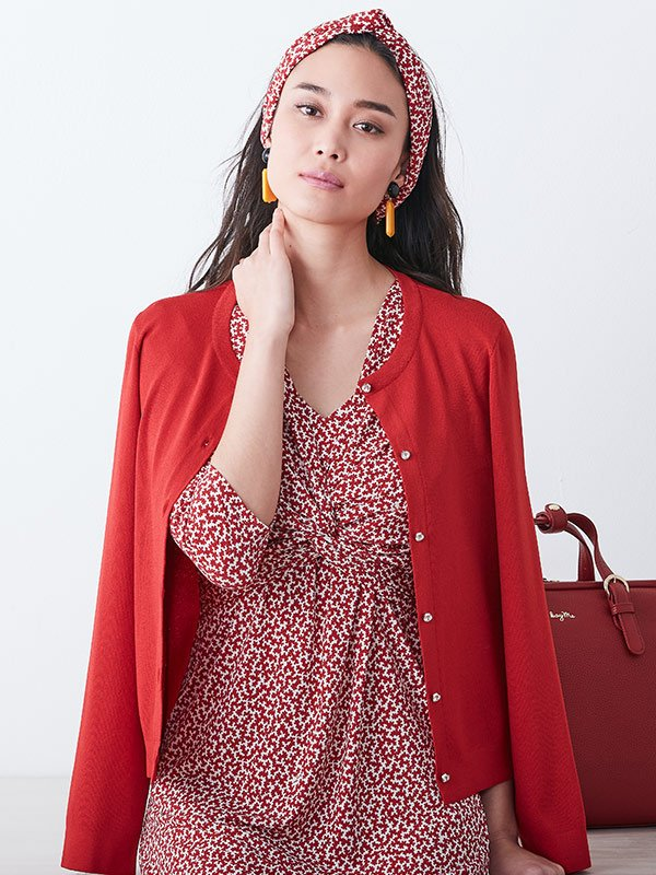 Red Mille-Fleur Twist Dress