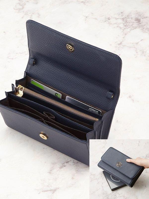 Navy 29 Pocket Wallet Bag