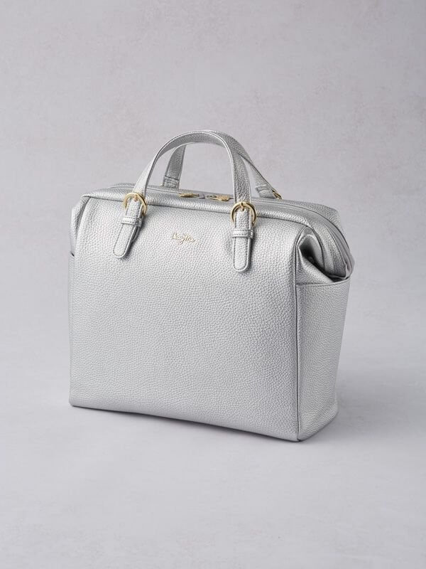 Silver Two-way Business Bag