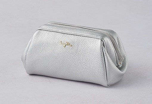 Silver Boxy Pouch - Large