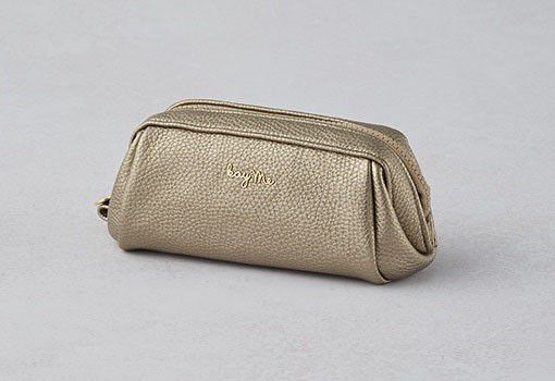Gold Boxy Pouch - Small