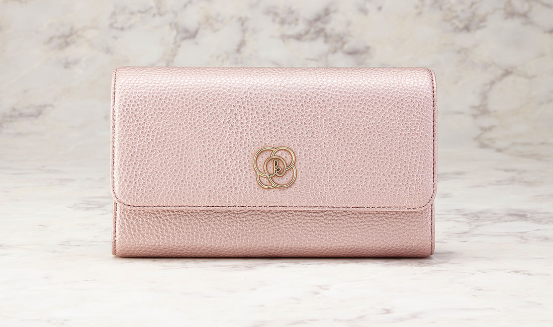 Champagne pink 29 Pockets Wallet Bag