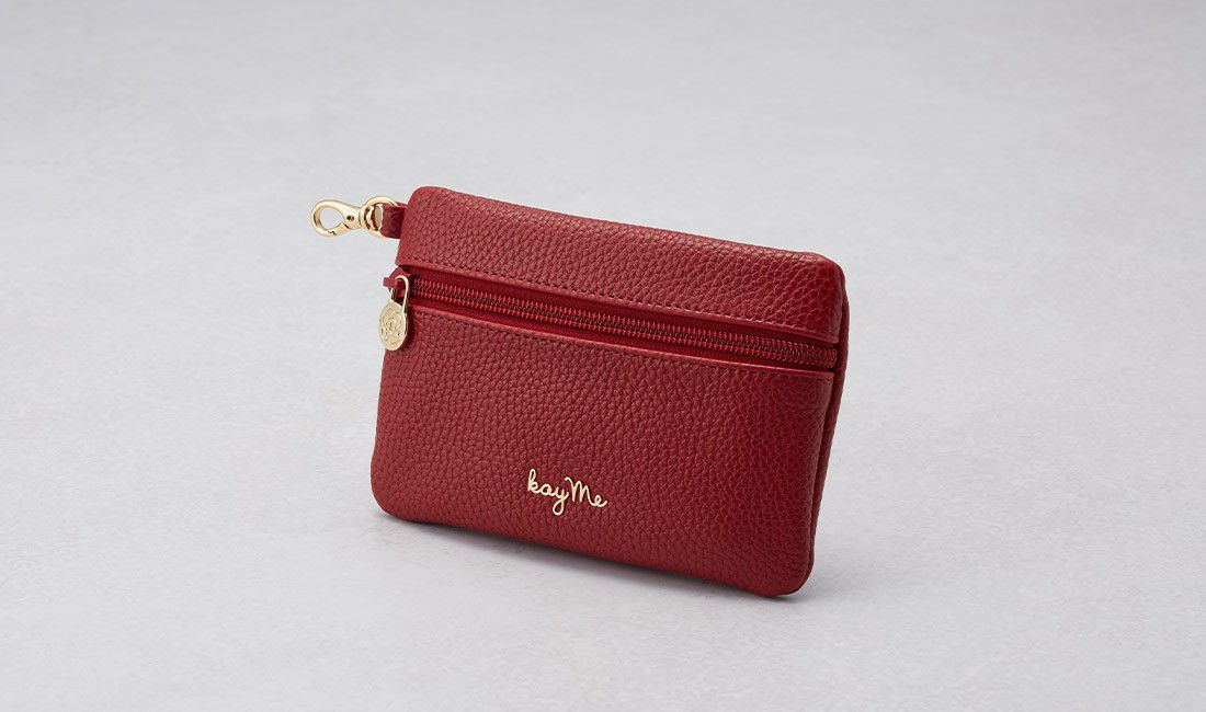 Red ​Valuables pouch