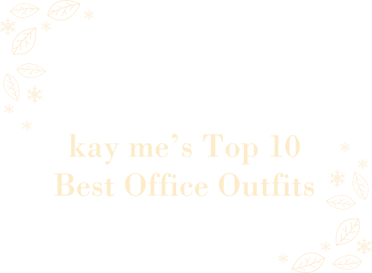 Machine-washable and time efficient! For a wonderfully warm autumn winter kay me's Top 10 Best Office Outfits