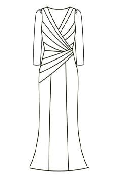 ロングギャザードレス