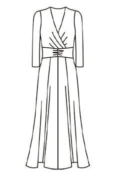 ロングマリリンドレス