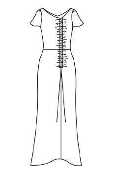ロングVギャザードレス