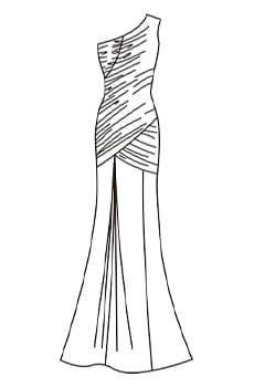 ワンショルダードレス