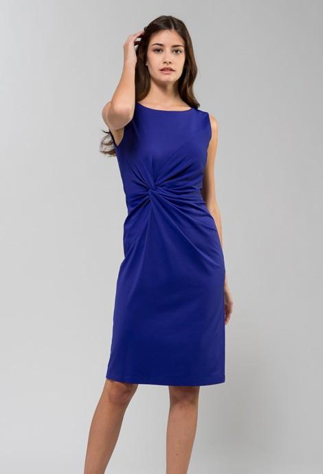 ロイヤルブルー ツイストドレス