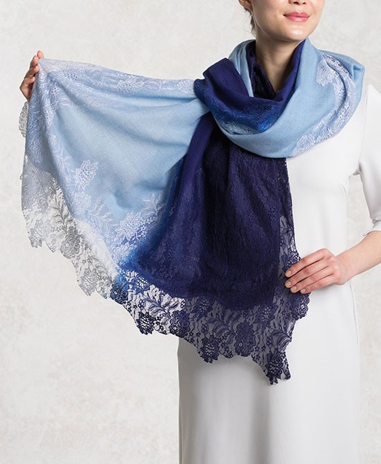 Powder blue Lace Gradation