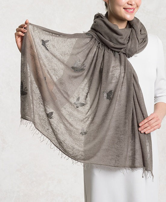 Mousegrey Cashmere Butterfly