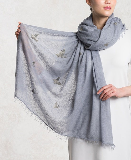 Bluegrey Cashmere Butterfly